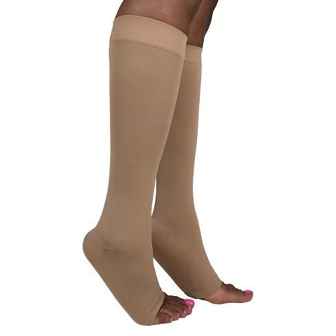 1587302dc2e Sigvaris Women s Soft Opaque Calf Length Open Toe 20-30 mmHg