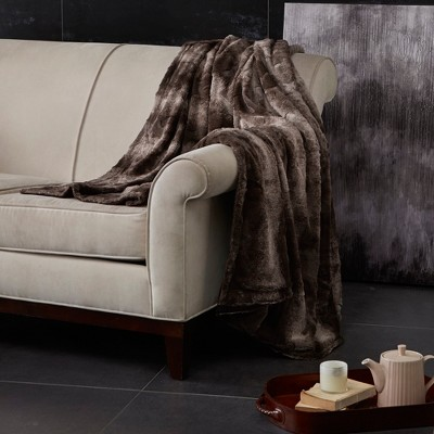 Chocolate Marselle Oversized Faux Fur Throw (60 X70 )