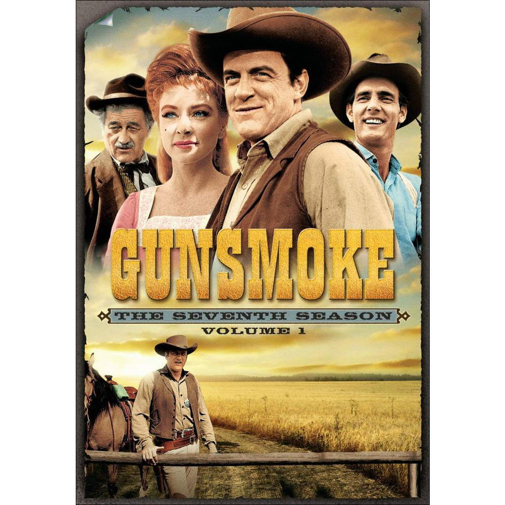 Gunsmoke: The Seventh Season, Volume 1 (Dvd) One of television's most popular westerns, Gunsmoke, returns in this first volume of episodes from the program's seventh season, starring program mainstays James Arness (Marshal Matt Dillon), Milburn Stone (Doc Adams), Amanda Blake (Miss Kitty) and Dennis Weaver (Chester). The material at hand originally aired between September 1961 and January 1962, and features 17 installments including Perce, Old Yellow Boots, Miss Kitty and Harpe's Blood.