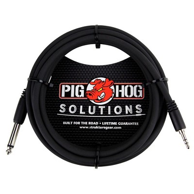 """Pig Hog Solutions 3.5mm TRS to 1/4"""" Mono Adapter Cable (10 ft.)"""