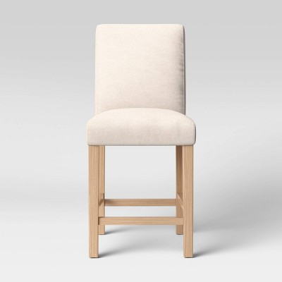 Graham Upholstered Parsons Counter Height Barstool Linen - Threshold™