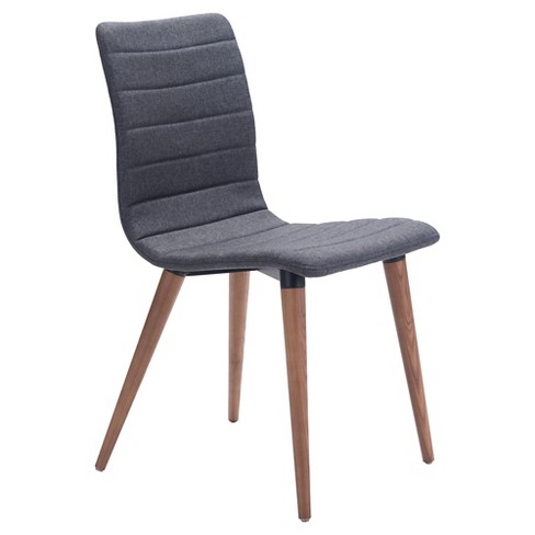 Mid Century Modern Upholstered And Wood Dining Chair Set Of 2 Zm