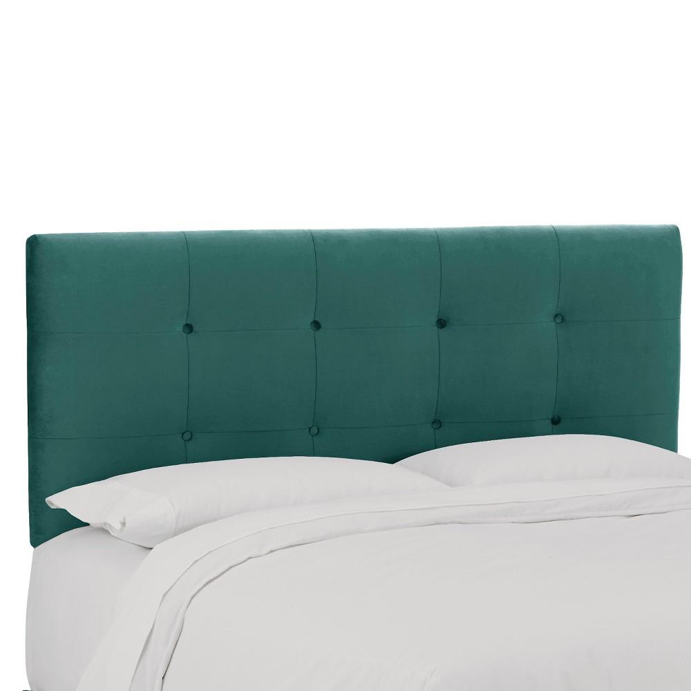 Dolce Velvet Headboard - Mystere Peacock - Full - Skyline Furniture