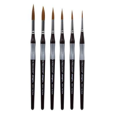 Kingart 6pc Precision Paint Brush Set