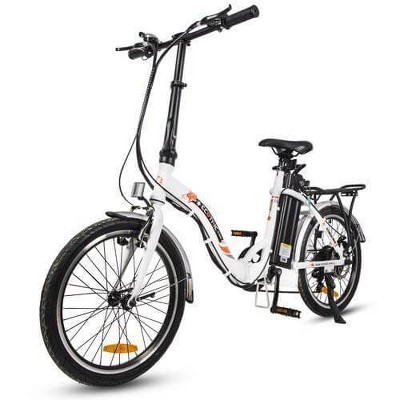 "Ecotric Starfish 20"" Electric Road Bike - White"