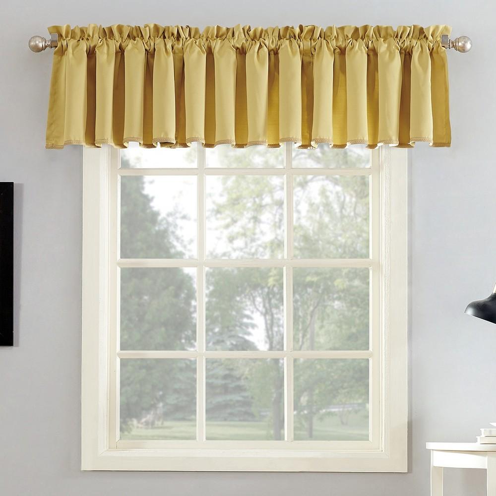 Seymour Energy Efficient Rod Pocket Curtain Valance Flax 54x18 - Sun Zero