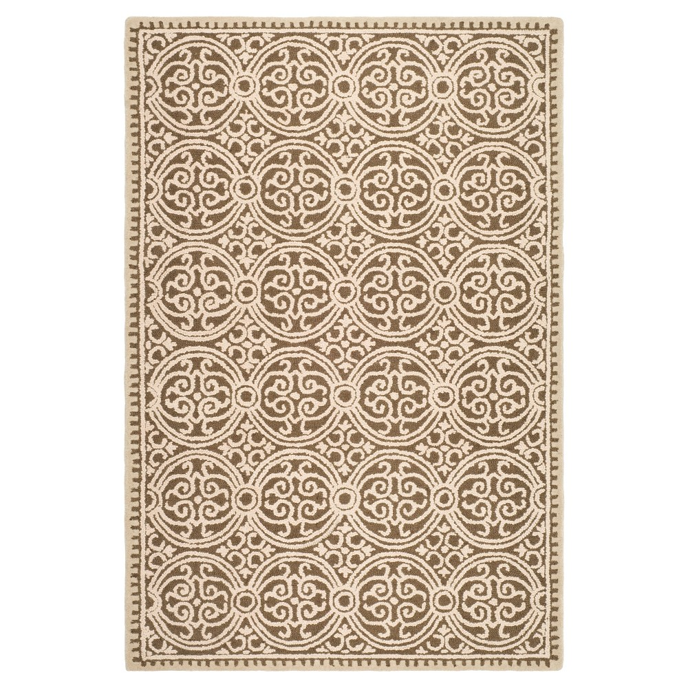 8'X10' Geometric Area Rug Tan - Safavieh, Beige
