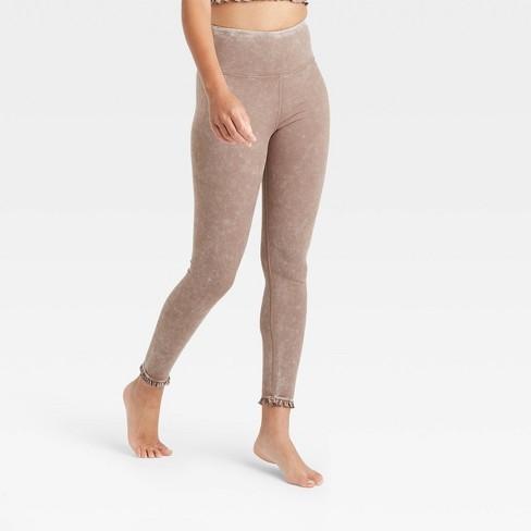 Women's High-Waisted 7/8 Leggings with Ruffle Hem - JoyLab™ - image 1 of 2