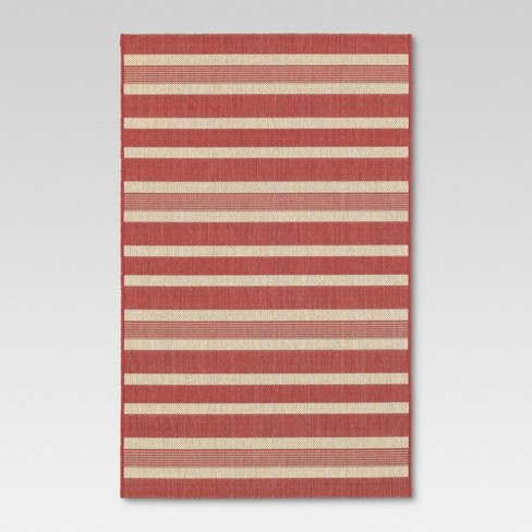 Red Striped Outdoor Rug Threshold Target