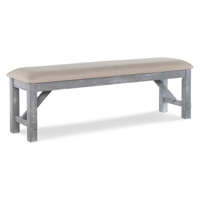 Bon Landon Dining Bench Distressed Gray Wash   Powell Company