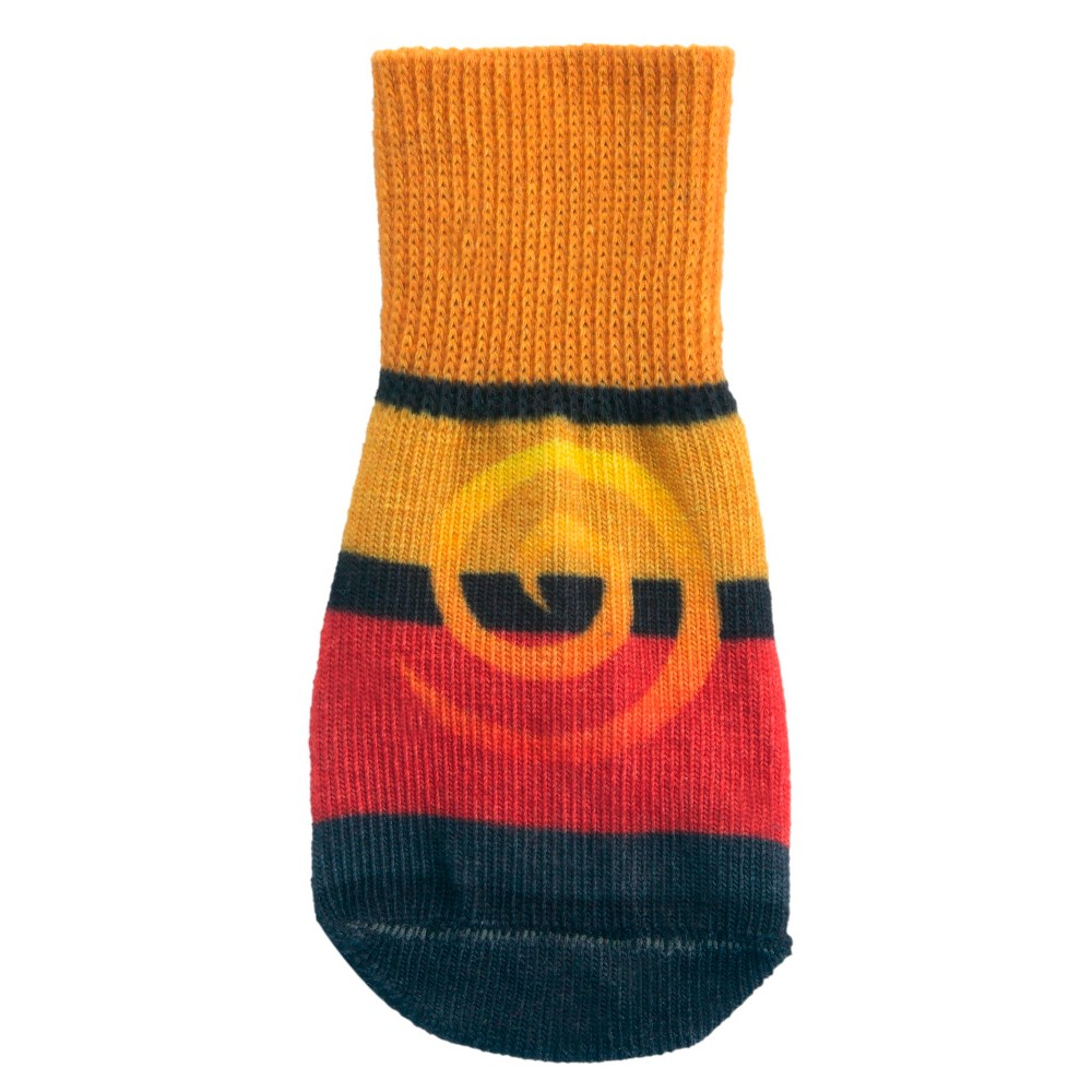 Ultra Paws Oakly Style Dog Socks - Yellow/Red/Blue - XL, Multicolored