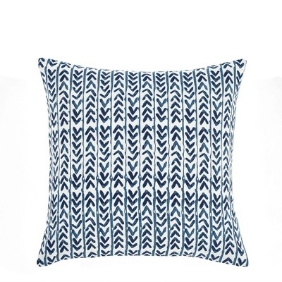 """20""""x20"""" Oversize Yani Square Throw Pillow Cover Navy - Lush Décor"""