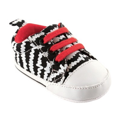 Luvable Friends Baby Boy Crib Shoes, Black And White Scribbles