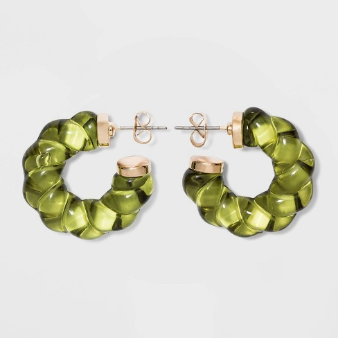 Twisted Acrylic Hoop Earrings - A New Day™ - image 1 of 2