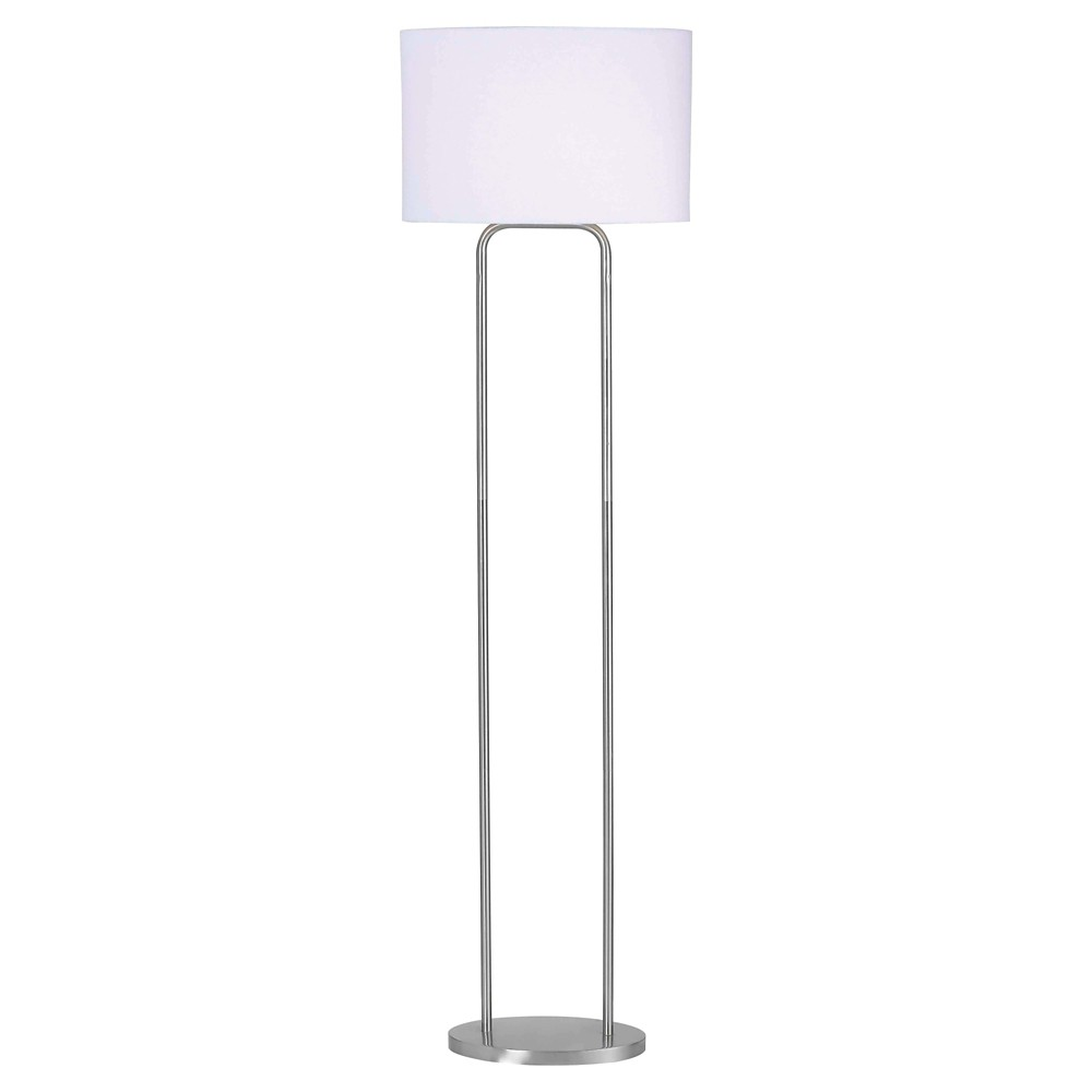 Image of Floor Lamp Stainless Steel (Includes Energy Efficient Light Bulb) - Kenroy Home