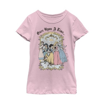 Girl's Disney Princesses Classic Once Upon a Time T-Shirt