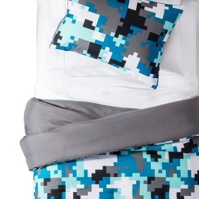 Twin Comforter Set Pixelated Camo - Pillowfort™