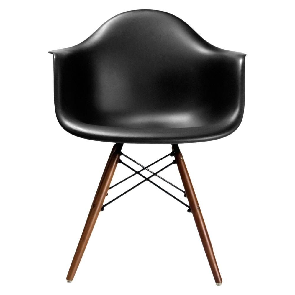 Dijon Mid Century Modern Dining Chair (Set of 2) - Black/Walnut - Aeon