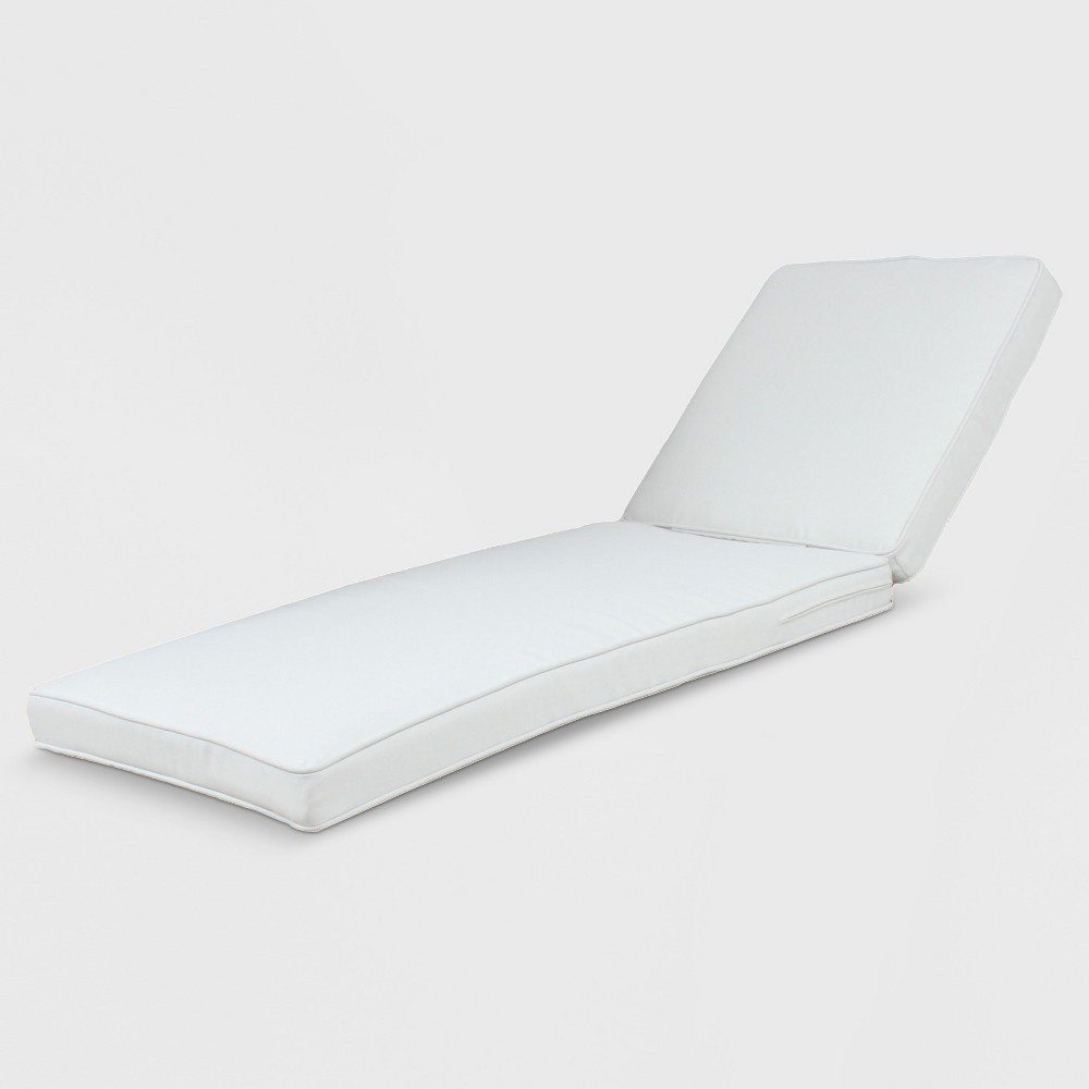 Rolston Outdoor Chaise Lounge Cushion Linen - Grand Basket