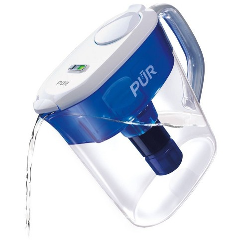 PUR 10 Cup Flip Lid Pitcher with Filter Change Light - Classic White - image 1 of 4
