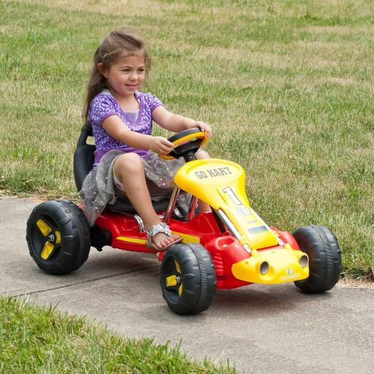 Lil' Rider Red Racer Battery Powered Go-Kart image number null