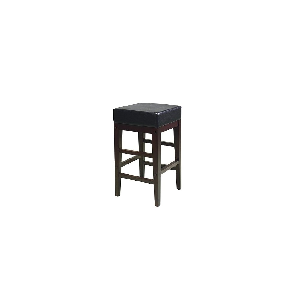 "Image of ""25.5"""" Square Metro Counter Stool Espresso/Black - OSP Home Furnishings, Size: 25"""" Counterstool, Brown Black"""