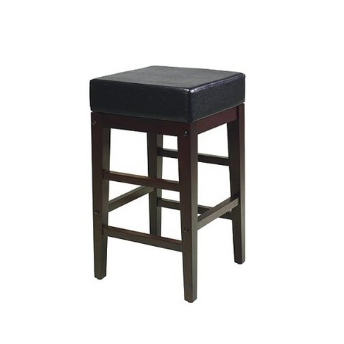 Square Metro Counter Stool Hardwood/Espresso/Black - Office Star - image 1 of 1