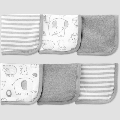 Baby 6pk Sheep Washcloth - Just One You® made by carter's Gray