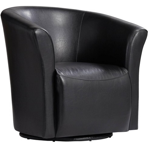 Studio 55D Rocket Rivera Black Swivel Accent Chair - image 1 of 4