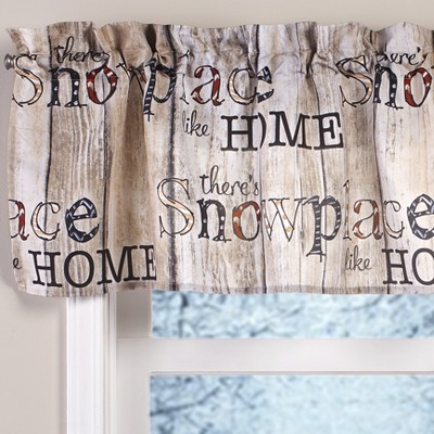 Lakeside Snowplace Like Home Valance for Bathrooms and Kitchens