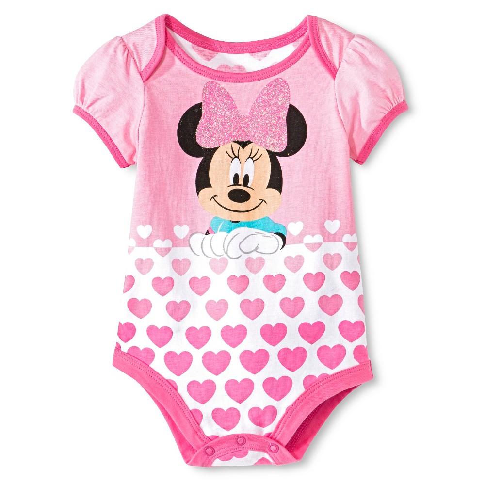 Disney Minnie Bodysuit - Pink 6-9 M, Newborn Girl's, Size: 6-9M