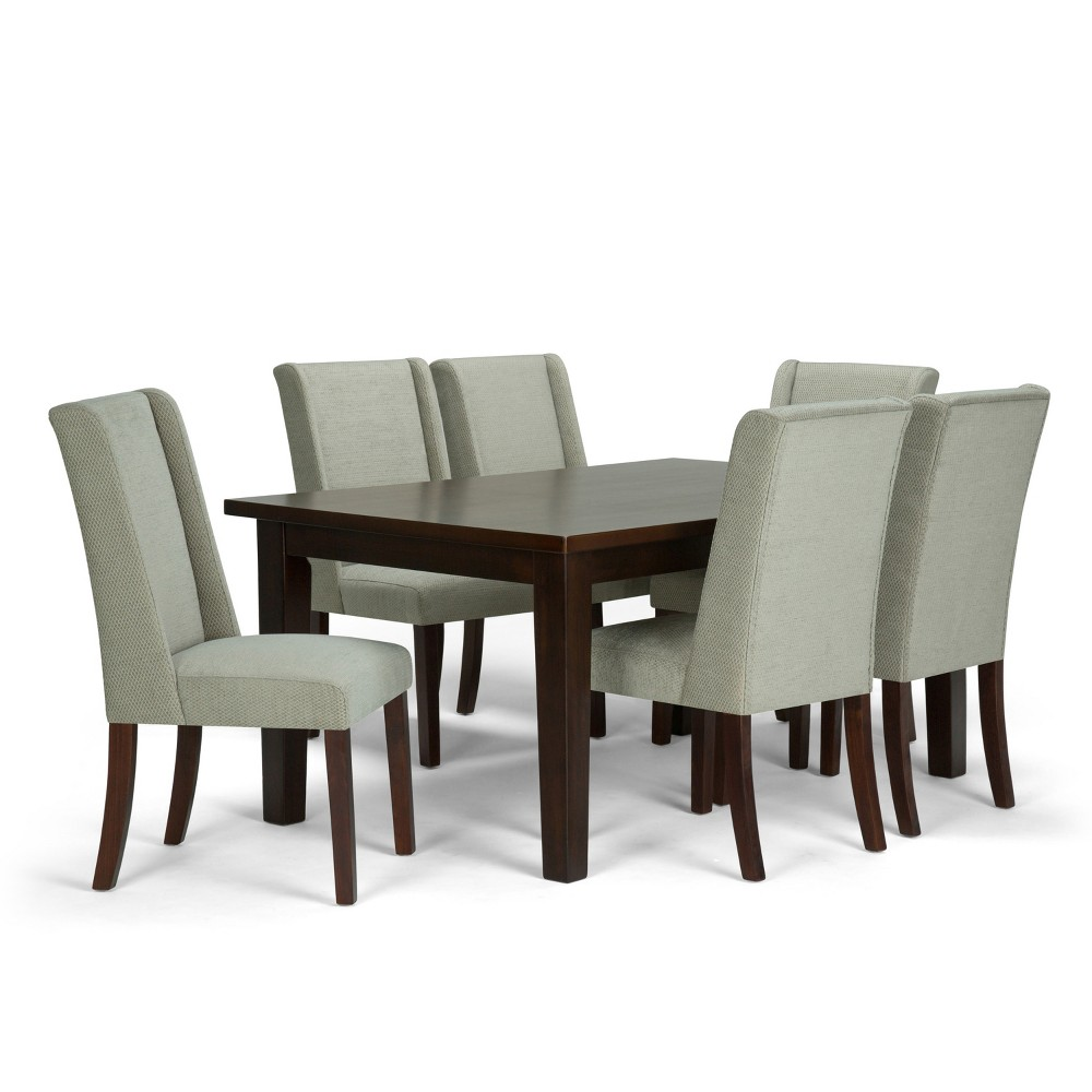 Sedona Solid Hardwood 7pc Dining Set Seamist - Wyndenhall