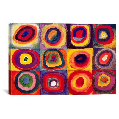 "Squares with Concentric Circles by Wassily Kandinsky Canvas Print (26""x 40"")"
