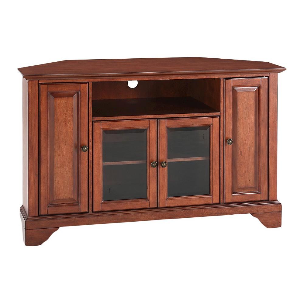 "Image of ""LaFayette Corner TV Stand - Cherry (48"""") - Crosley"""