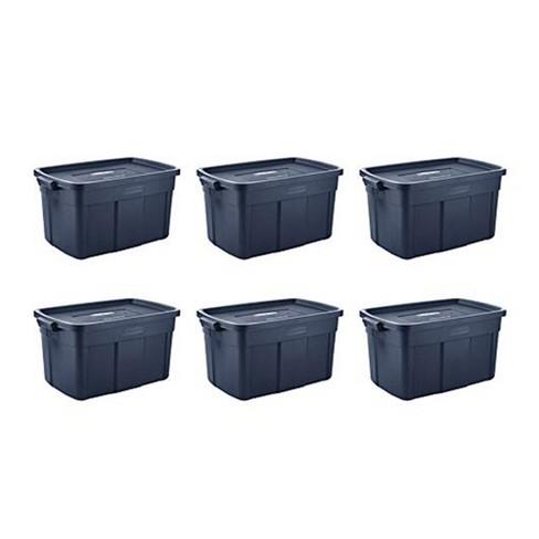 Rubbermaid 31 Gallon Stackable Storage Container, Dark Indigo Metallic (6 Pack) - image 1 of 4