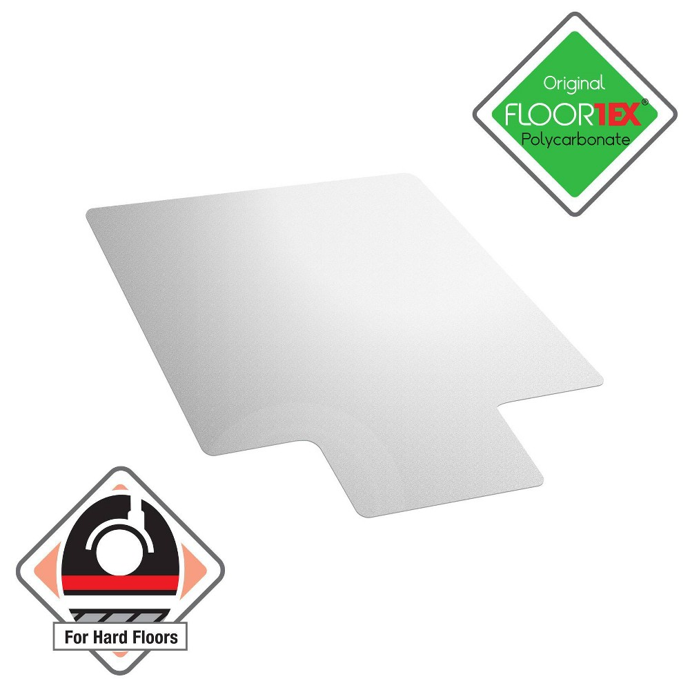 48 34 X53 34 Polycarbonate Chair Mat For Hard Floors Lipped Clear Floortex
