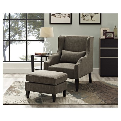 Ashbury Upholstered Wingback Club Chair U0026 Ottoman   Fawn Brown   Simpli  Home : Target