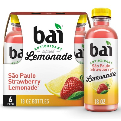 Bai Strawberry Lemonade Flavored Water - 6pk/18 fl oz Bottles