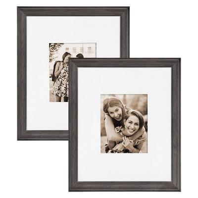 "16"" x 20"" Bordeaux Frame Box Set Gray - Kate & Laurel All Things Decor"