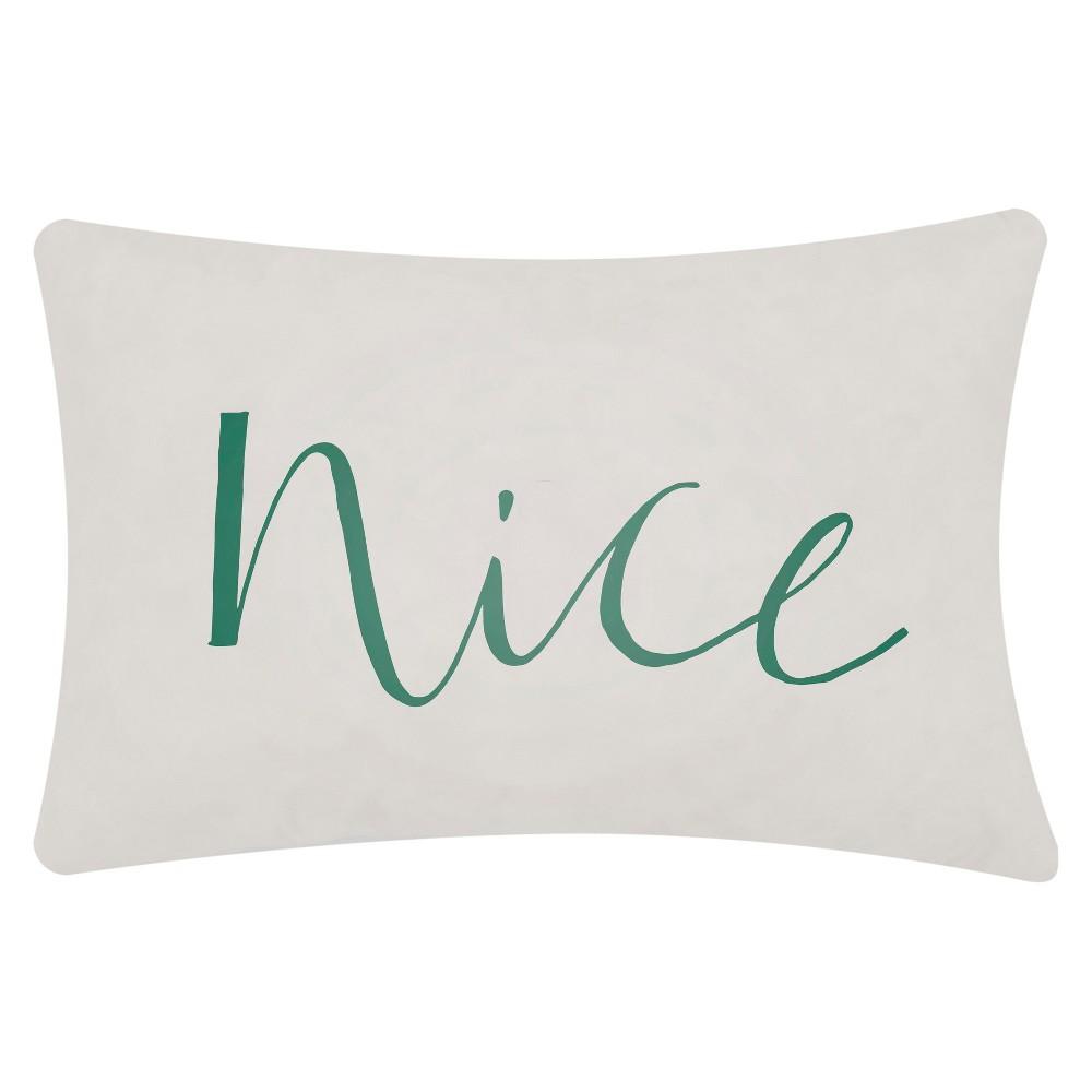 Light Gray Nice Throw Pillow 14