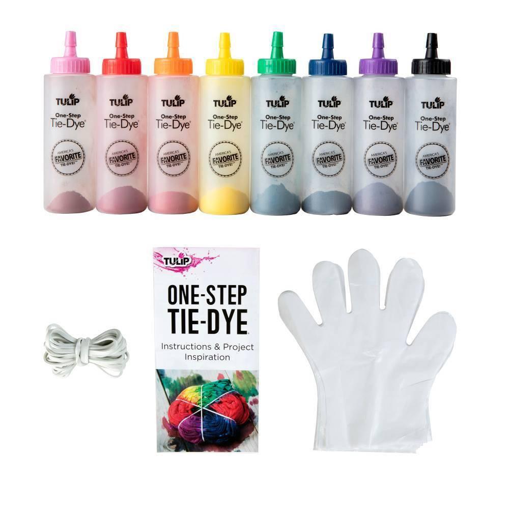 Image of 8ct 2.75oz Bottle Rainbow One Step Tie Dye Kit - Tulip