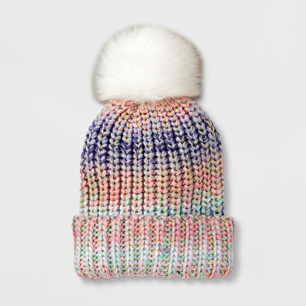 Girls' Spacedye Beanie - Cat & Jack One Size, Multi-Colored