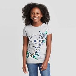 Girls' Short Sleeve Koala Graphic T-Shirt - Cat & Jack™ Gray