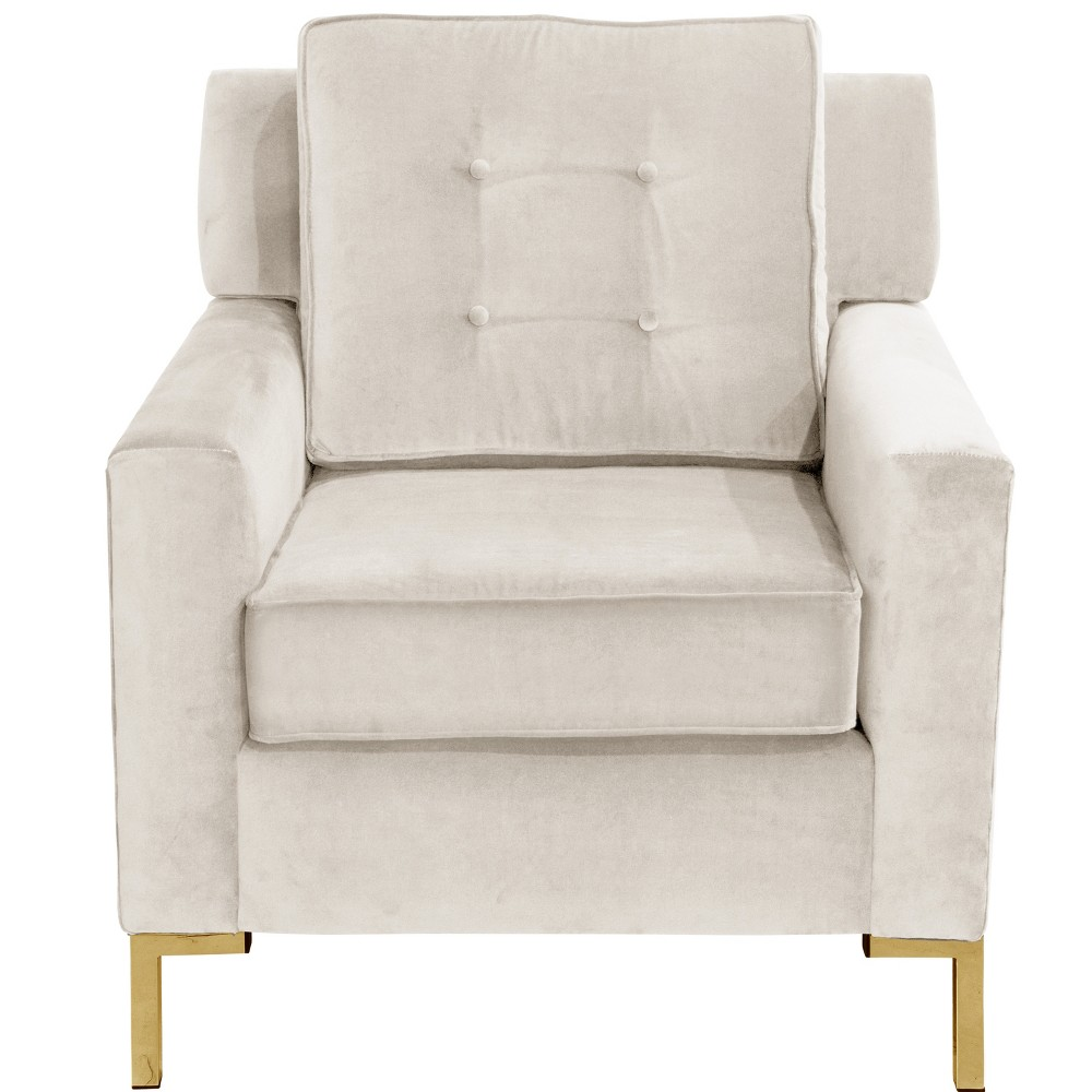 Parkview Chair with Y Metal Legs Regal Antique White - Skyline Furniture