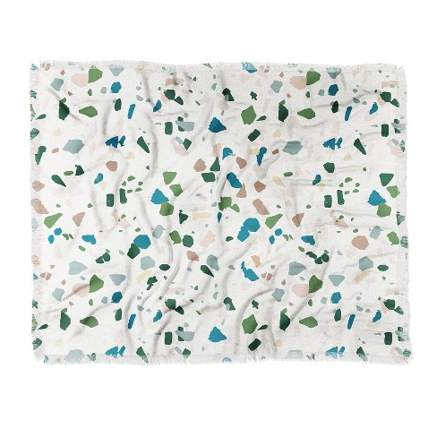 Holli Zollinger Terrazzo Woven Throw Blanket Green - Deny Designs - image 1 of 2