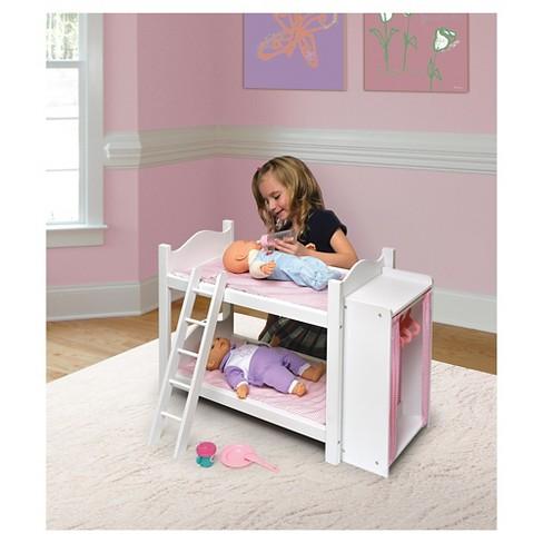 Badger Basket Doll Bunk Beds With Ladder And Storag Target
