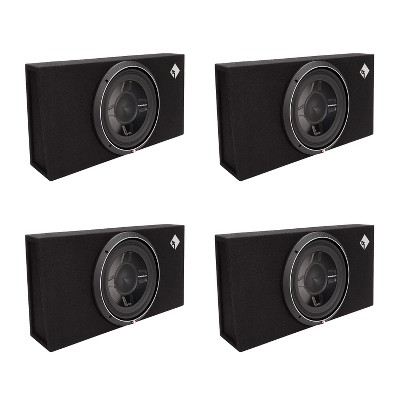 Rockford Fosgate P3S-1X12 12-inch 800 Watts 1 Ohm Shallow Loaded Subwoofer Sub Enclosure (4 Pack)