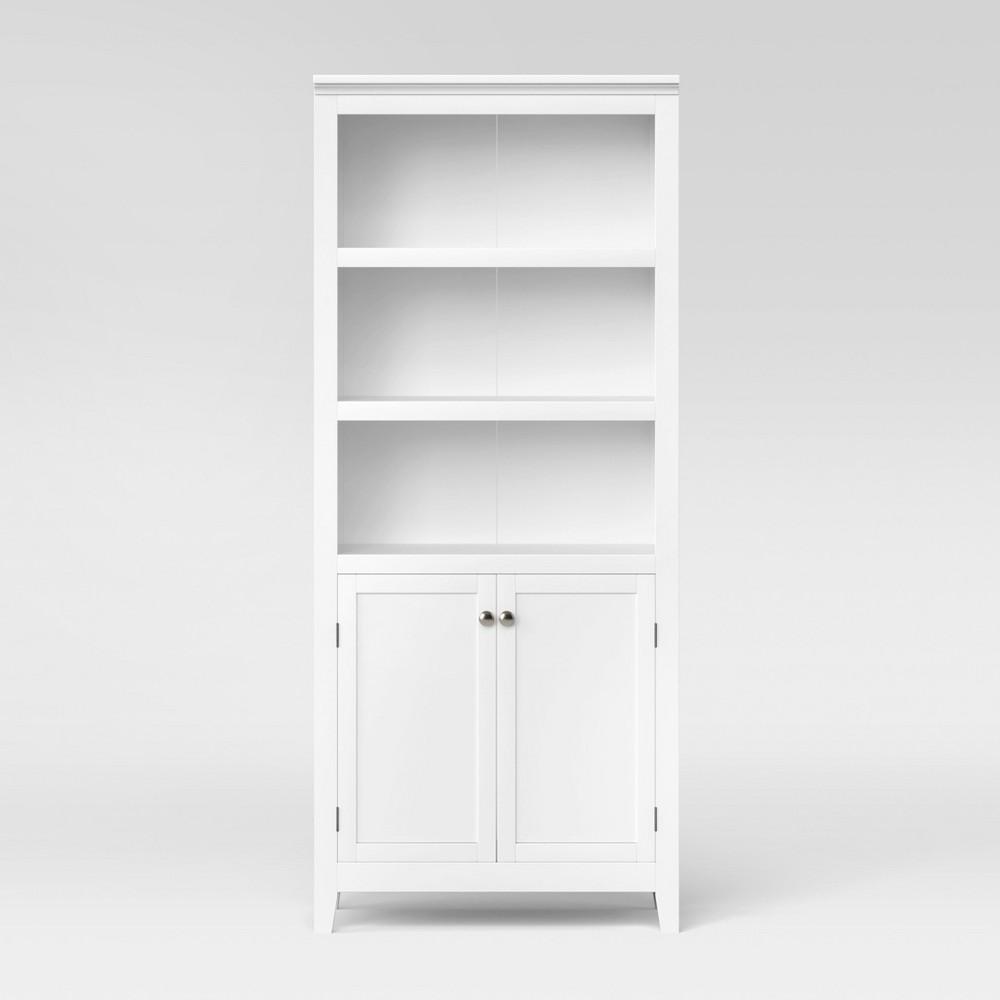 Best Price Carson 72 Shelf Bookcase With Storage White Threshold