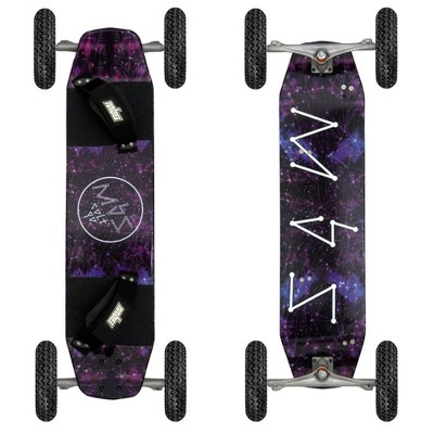 MBS 10101 Heavy Duty Colt 90 Longboard Mountainboard Maple Deck w/ T1 Tires, Constellation Design