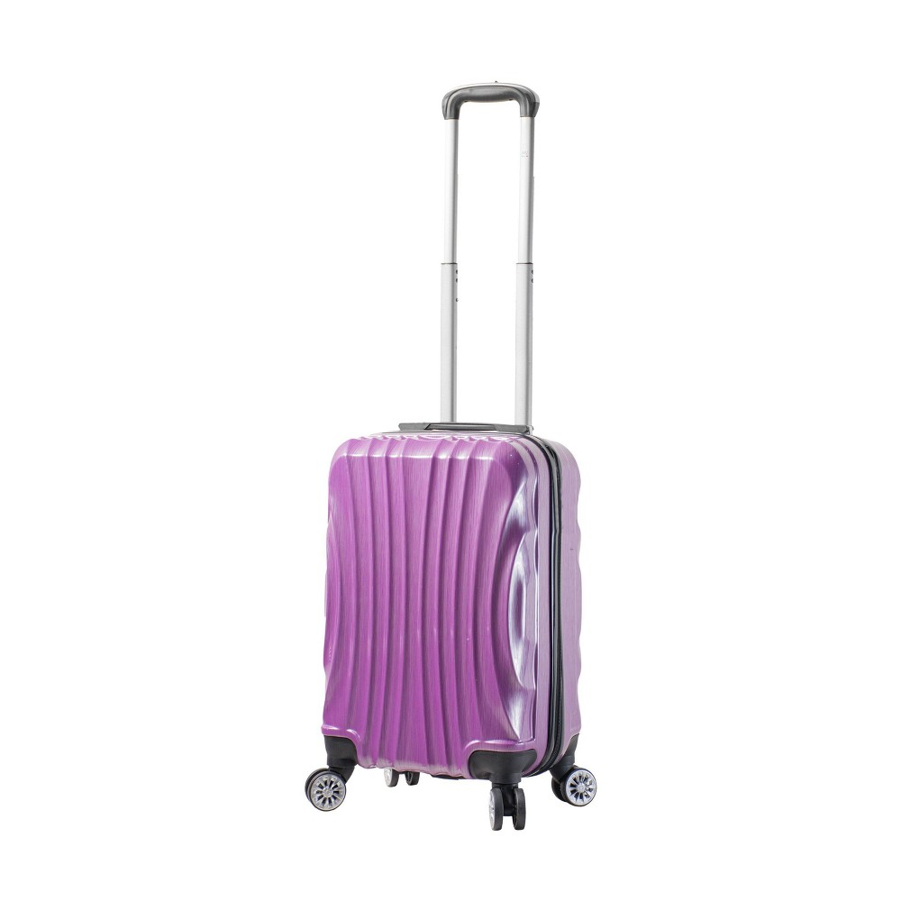 "Image of ""Mia Viaggi ITALY Bari 20"""" Hardside Carry On Suitcase - Purple"""
